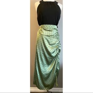 Zara Green Polka Dot Skirt - Size L